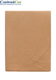 Простыня на резинке 200x220x30 BOVI 100% хлопок софт сатин золотой