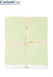 Плед детский Imperio 207 Luxberry 75х100 100 % хлопок зеленый/белый