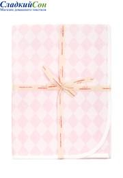 Плед детский LUX-3313 Luxberry р-р:75х100 Хлопок 100% розовый