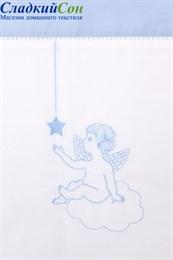 Чехол для бортика ANGELS Luxberry 45x390 белый/голубой