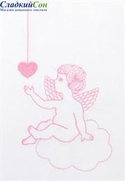 Чехол для бортика ANGELS ТМ Luxberry45x195 белый/розовый