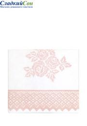 Чехол для бортика ROSE 45x390 белый/розовый