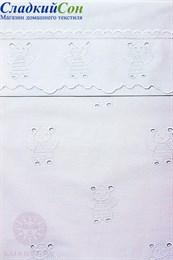 Чехол для бортика МИШУТКИ 45x390 белый