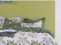 Комплект постельного белья Asabella евро печатный сатин 1574-6