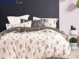 Комплект постельного белья Asabella евро печатный сатин 1619-6