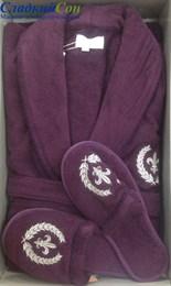 Махровый халат класса Люкс с тапочками SEYMOUR (EMD)