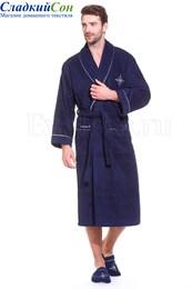 Махровый халат класса Люкс с тапочками Marine Club (EVA_MD)