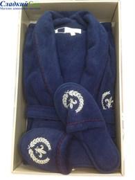 Махровый халат класса Люкс с тапочками SEYMOUR (EVA_MD)