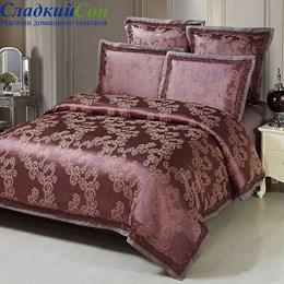 Комплект постельного белья Kingsilk SB-109-4 Семейный коричневый