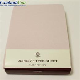 Простыня на резинке Luxberry розовая 140*200