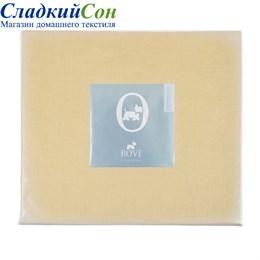 Простыня на резинке Luxberry 160*200*30 горчичная
