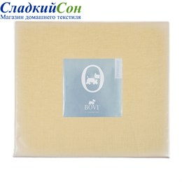 Простыня на резинке Luxberry 90*200*30 горчичная