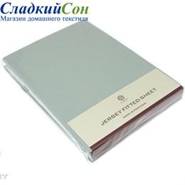 Простыня на резинке Luxberry трикотаж 90*200*30 светло-зеленая