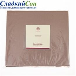 Простыня прямая Luxberry сатин 220*240 ореховая
