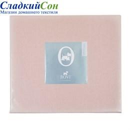 Простыня прямая Luxberry сатин 240*260 розово-жемчужная