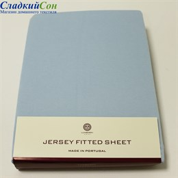 Простыня на резинке Luxberry трикотаж 160*200*30 голубая