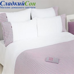 Пододеяльник Luxberry и наволочка 150*210+50*70, цвет: белый/серый/розовый/винный