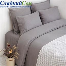 Комплект постельного белья Luxberry Linen евро серое Евро серый