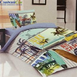 Комплект постельного белья Teen LB-08-1 Beach 1,5-спальный мультитон