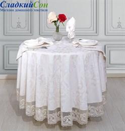 Скатерть Asabella К11-10 круглая с салфетками