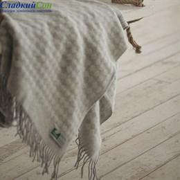 Плед Flaum Neuseeland Wolle Simon светло-серый