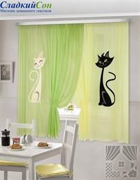 Комплект штор ТомДом Шура желто-зеленый
