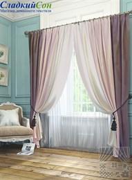 Комплект штор ТомДом Ярвис розово-фиолетовый