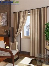 Комплект штор ТомДом Неберг коричневый