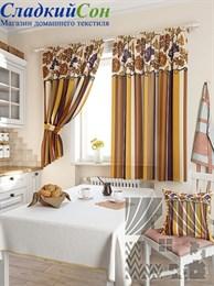 Комплект штор ТомДом Абель коричневый