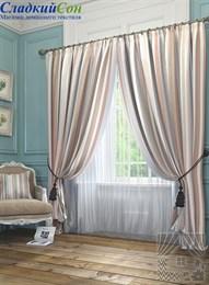 Комплект штор ТомДом Эзми коричневый