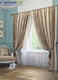Комплект штор ТомДом Сент-Шапель коричневый