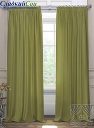 Комплект штор ТомДом Элести зеленый