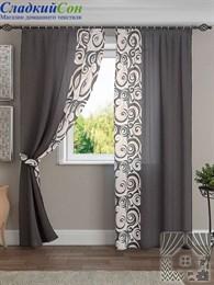 Комплект штор ТомДом Хенди серо-коричневый