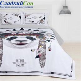Комплект постельного белья Этель ETR-687-2 Indian dream 2-спальный белый