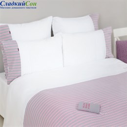 Наволочка Luxberry 70*70, цвет: белый/серый/розовый/винный