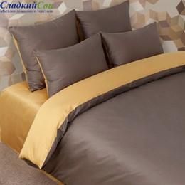 Наволочка Luxberry DUETTO 5 70*70, цвет: шоколад/золотой
