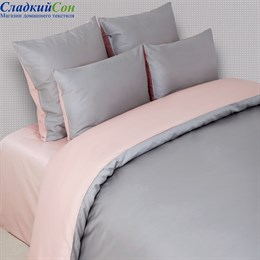 Наволочка Luxberry DUETTO 6 50*70, цвет: серый/розовый