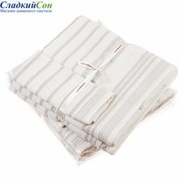 Полотенце Luxberry SPA4, цвет: белый/льняной lux04717