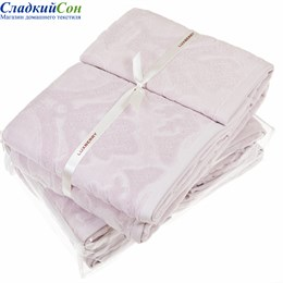 Полотенце Luxberry Барокко, цвет: розовая пудра