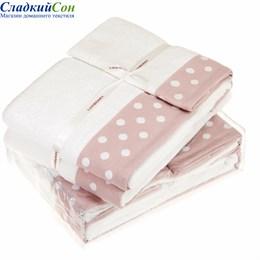 Полотенце Luxberry PRETTY DOTS, цвет: белый/розовый