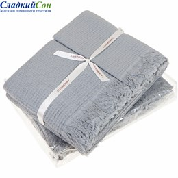 Набор полотенец Luxberry MACARONI, цвет: светло-серый