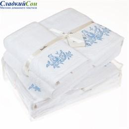Набор полотенец Luxberry ПТИЧКИ, цвет: белый/голубой