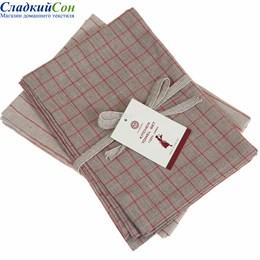 Набор полотенец Luxberry TIMELESS maxi, цвет:  натуральный/красный