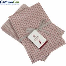 Набор полотенец Luxberry TIMELESS mini, цвет:  натуральный/красный