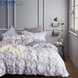 Комплект постельного белья Asabella 1034-6 Евро светло-серый