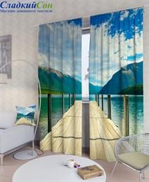 Комплект фотоштор ТомДом Пирс на озере