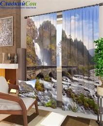 Комплект фотоштор ТомДом Водопад в Норвегии