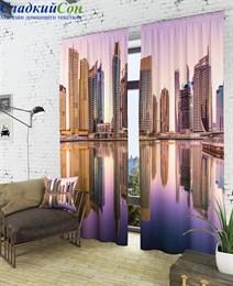 Комплект фотоштор ТомДом Вид на город с воды