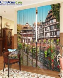 Комплект фотоштор ТомДом Краски Европейского города