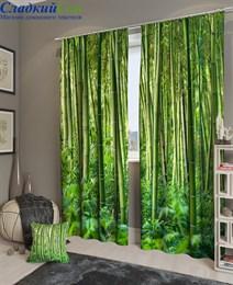 Комплект фотоштор ТомДом Бамбуковые джунгли